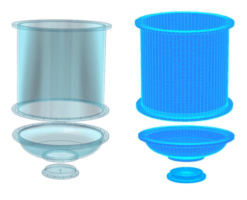 modelisation cuve acrylique en PMMA Plexi