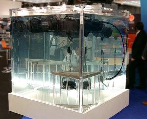 Cuve Acrylique pour exposition de 3400 litres sur mesure